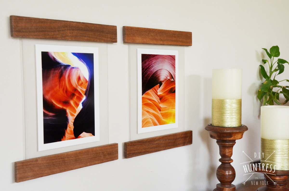 DIY Floating Picture Frame 19