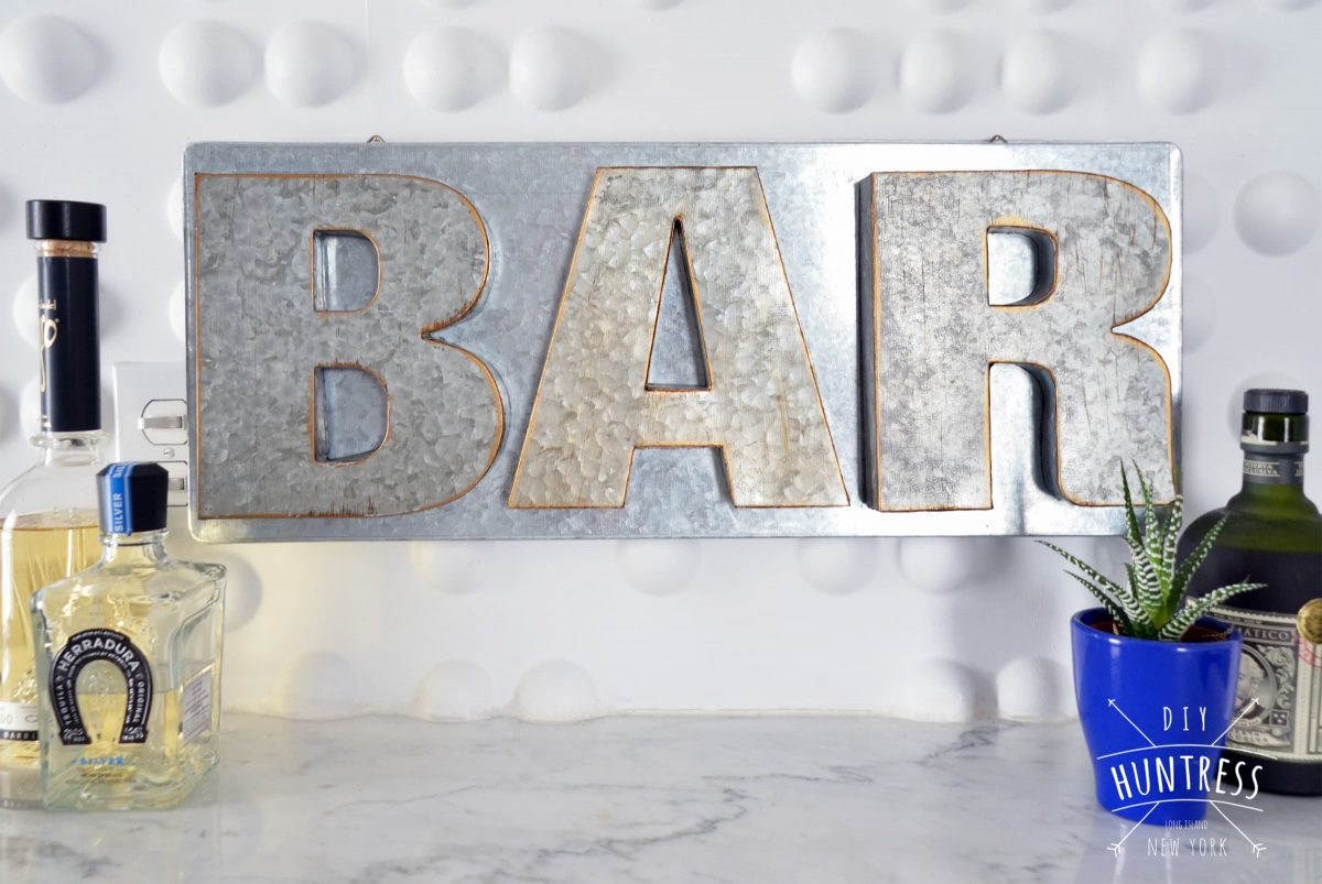 DIY Huntress Metal Bar Sign 13 1200X803