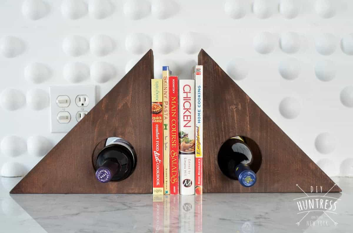 DIY Huntress Wine Rack Bookends 4 RFW PW