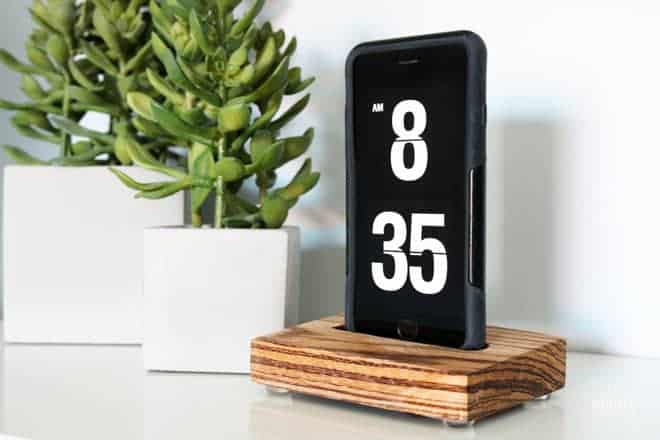 DH DIY Wooden Iphone Dock Stand 20 RF