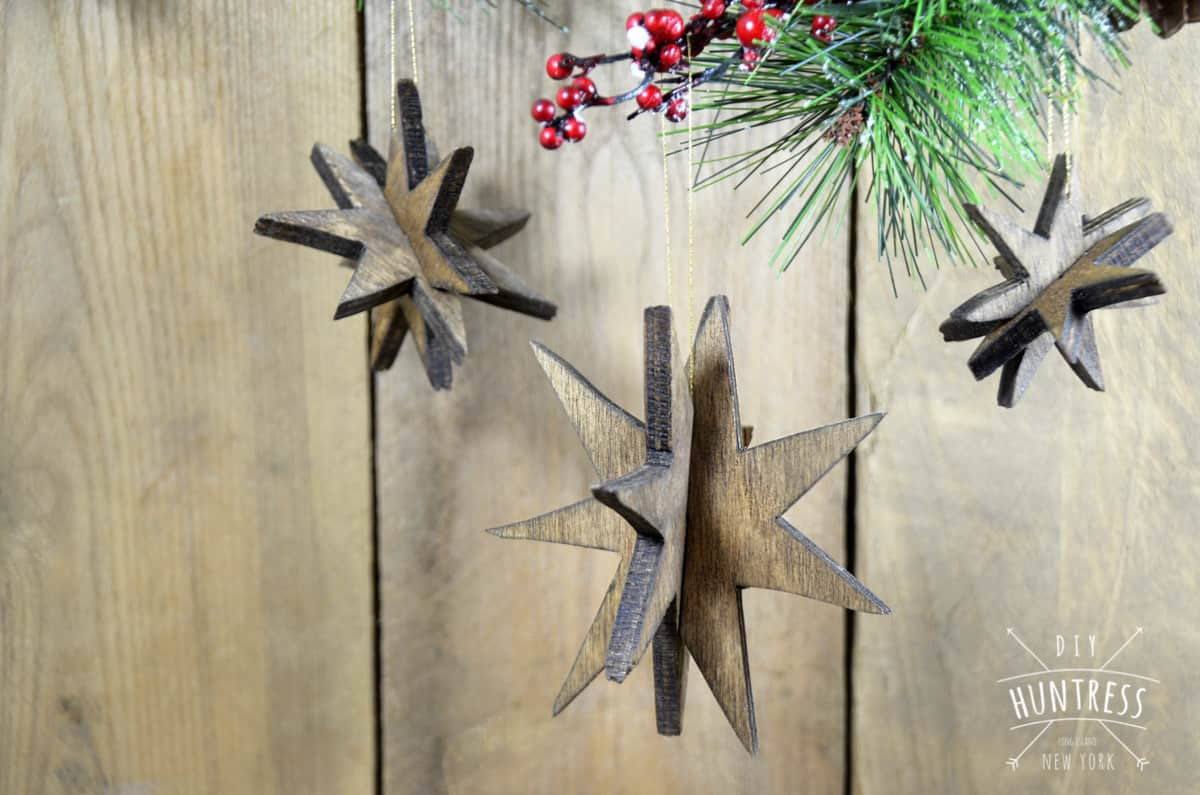 Wooden Star Ornaments DIY Huntress