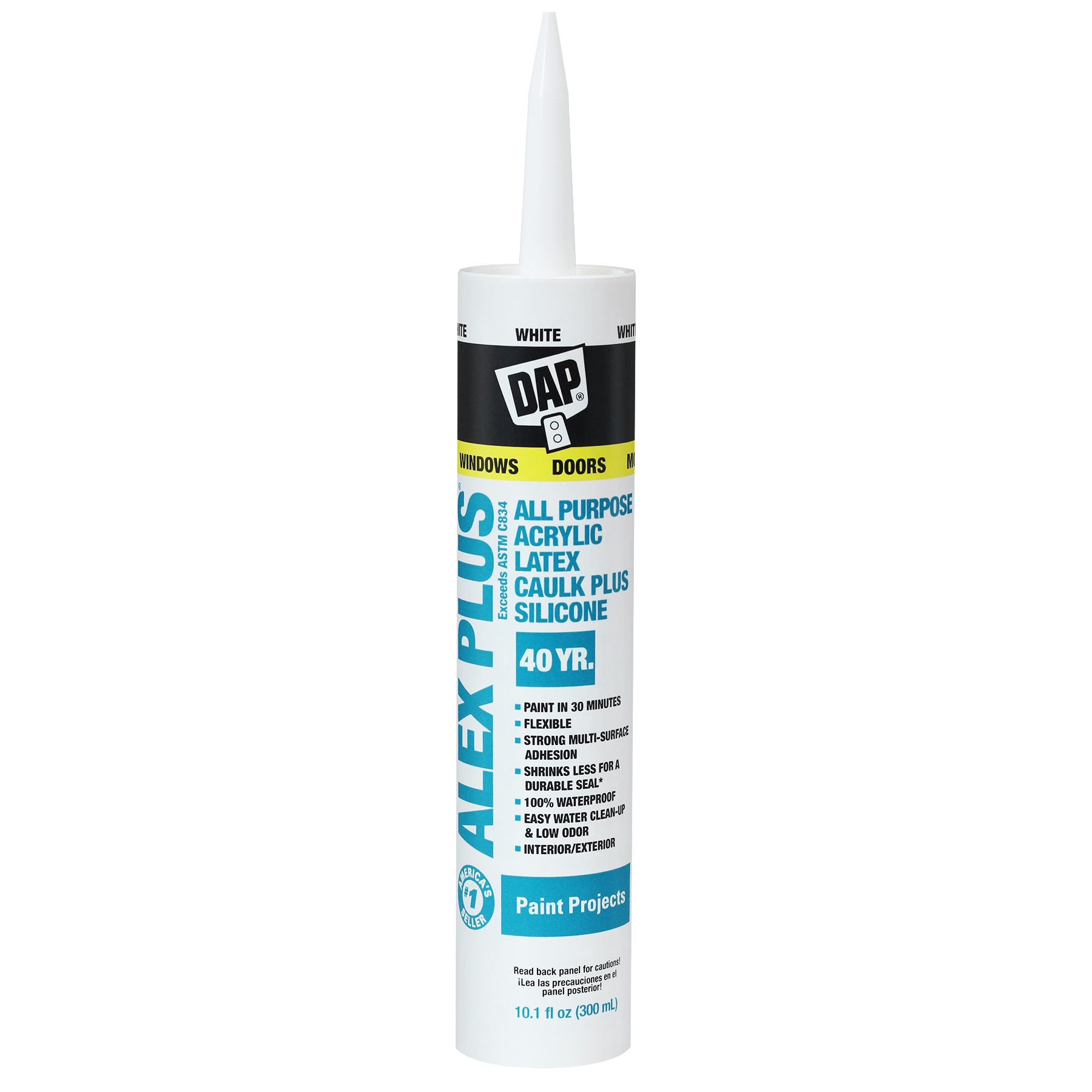Alex Plus All Purpose Acrylic Latex Caulk Plus Silicone