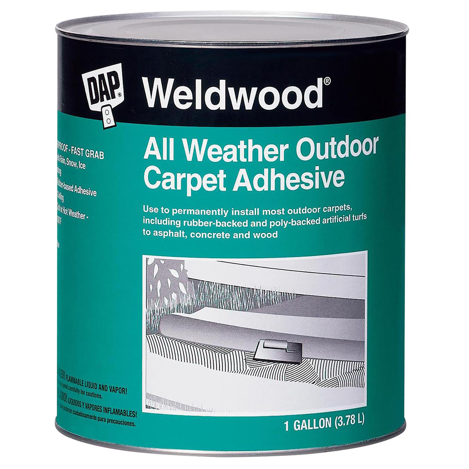 Weldwood All Weather Outdoor Carpet, How To Adhere Outdoor Carpet Concrete